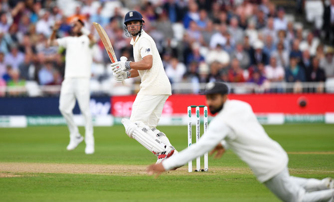 Alastair Cook had a streaky before finding the gaps at ease