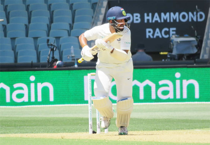 Cheteshwar Pujara rates his innings on Day 1 of the Adelaide Test on Thursday, as one of his top five