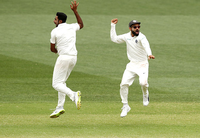 Rediff Cricket - Indian cricket - PHOTOS: Kohli's India create history in Adelaide