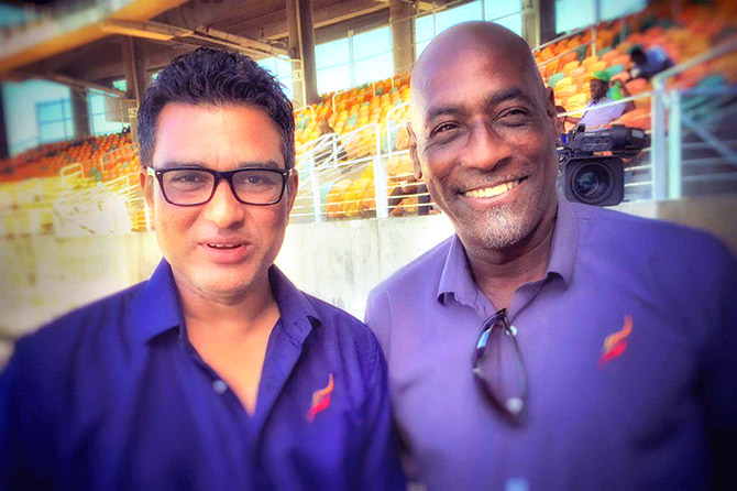 Sanjay Manjrekar with Viv Richards