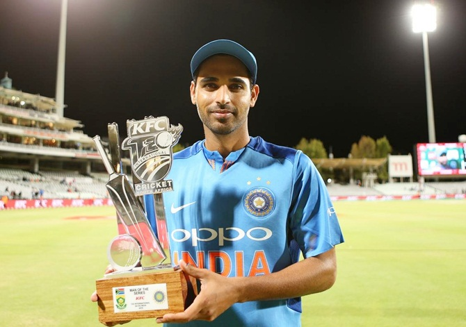 'Ready for England, Australia,' says Bhuvi after SA success