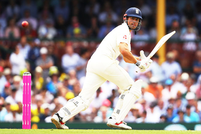 England's Alastair Cook bats