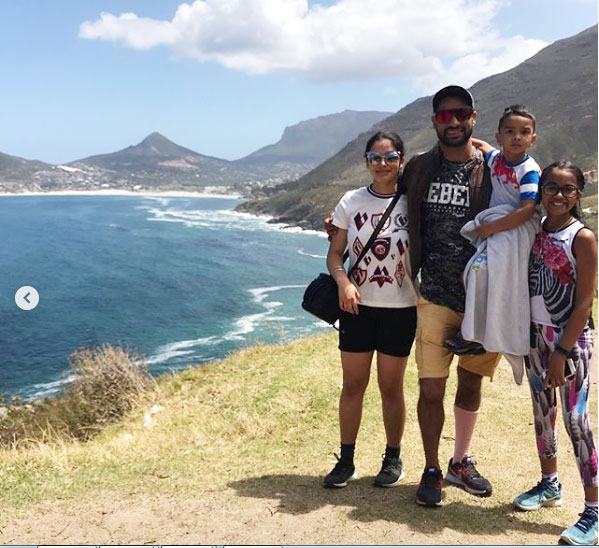 Shikhar Dhawan and his kids are all smiles under the Cape Town sun
