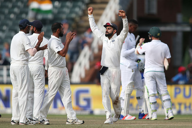 3rd Test: Bowlers make late charge to script thrilling win over Proteas