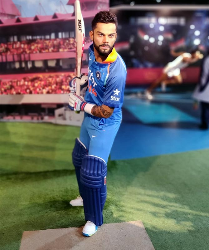 Kohli's wax statue unveiled at Lord's