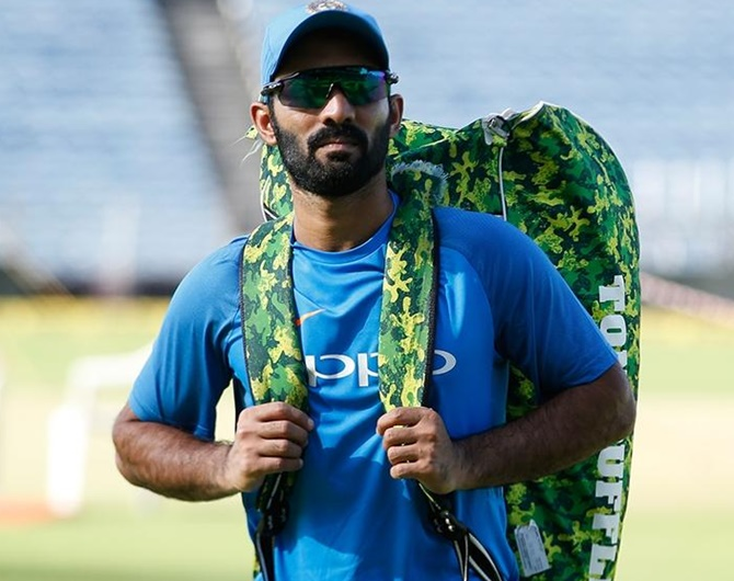 Dinesh Karthik reacts after World Cup selection