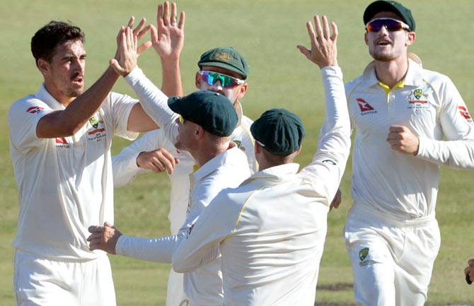 PHOTOS: Starc rips through South Africa; Australia grab big lead