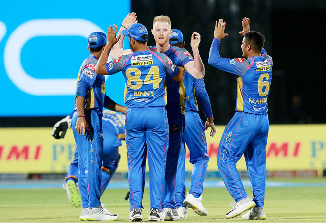 IPL PHOTOS: Buttler, bowlers keep RR alive, beat KXIP by 15 runs