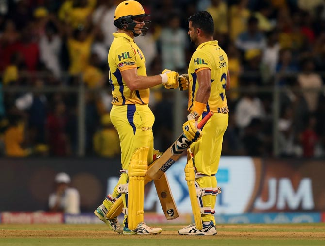 Chennai Super Kings' Shane Watson and Suresh Raina enjoyed good form this season