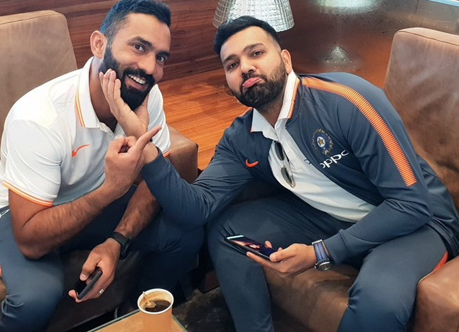 Rediff Cricket - Indian cricket - PIX: Team India off to Australia