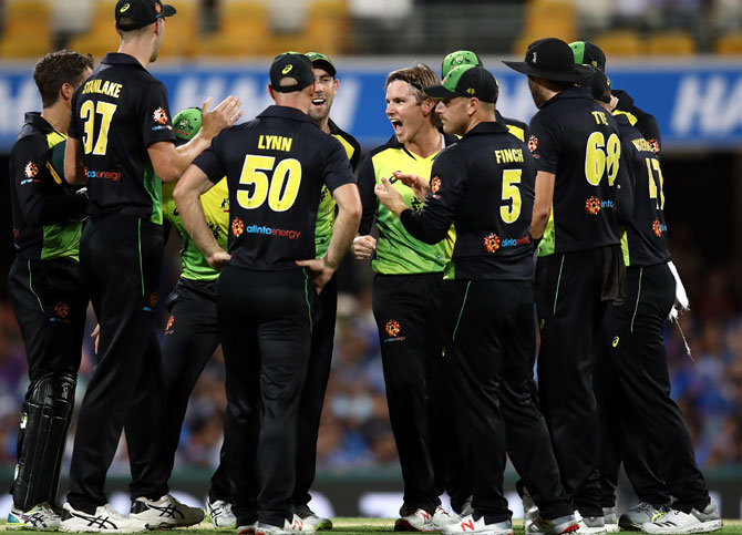 Australia one win away from taking T20 series against India