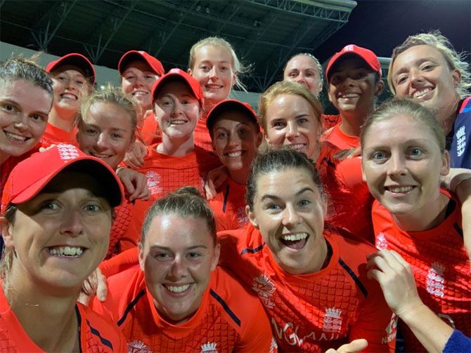 Rediff Cricket - Indian cricket - Women's WT20 PIX: Clinical England crush India to enter final