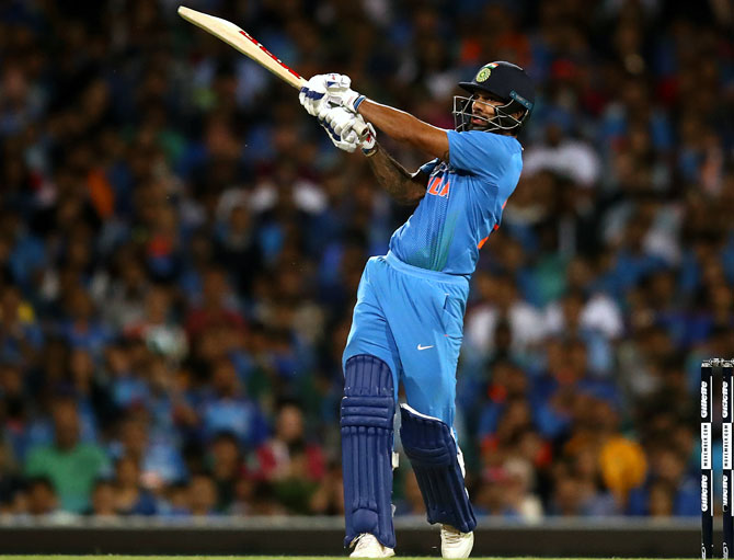 Shikhar Dhawan scored a blistering  41 off 22 at the top of the order to give India a brisk start
