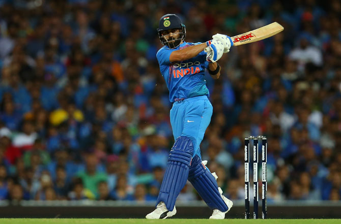 Virat Kohli scored a half-century as he guided India to a series-levelling win in the third T20I in Sydney on Sunday
