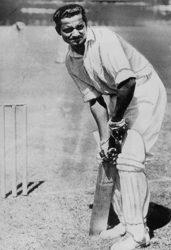 Vijay Hazare in action