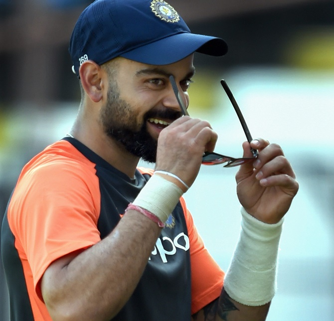 WATCH: Virat Kohli aces bottle cap challenge