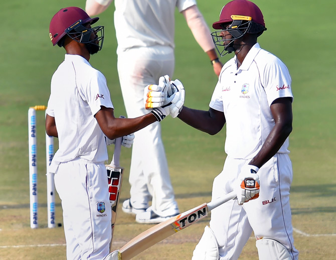 PIX: How Chase revived West Indies after Yadavs inflict damage