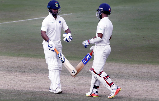 PHOTOS: Rahane, Pant lead India's strong reply on Day 2