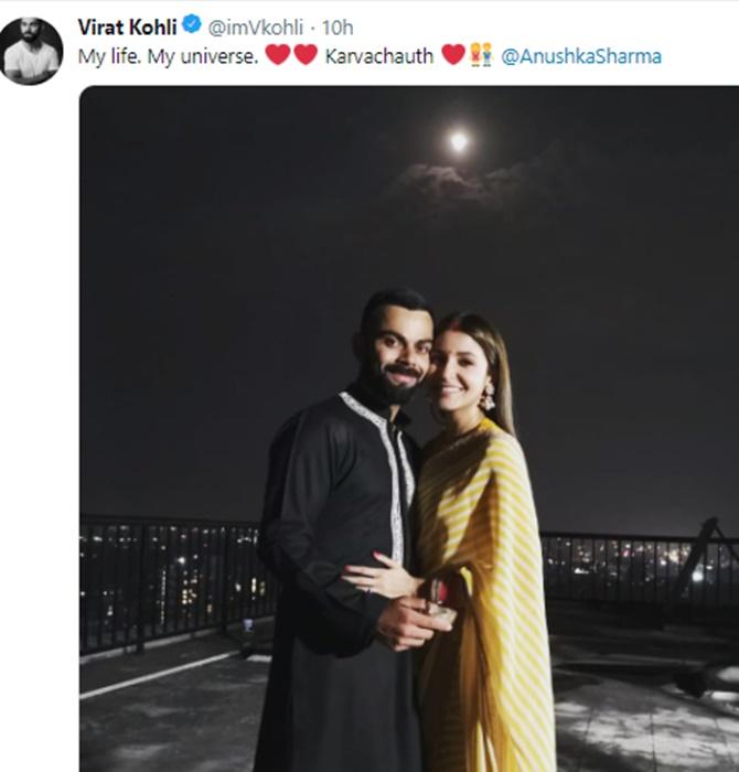 2018's most-liked tweet belongs to Virat and Anushka