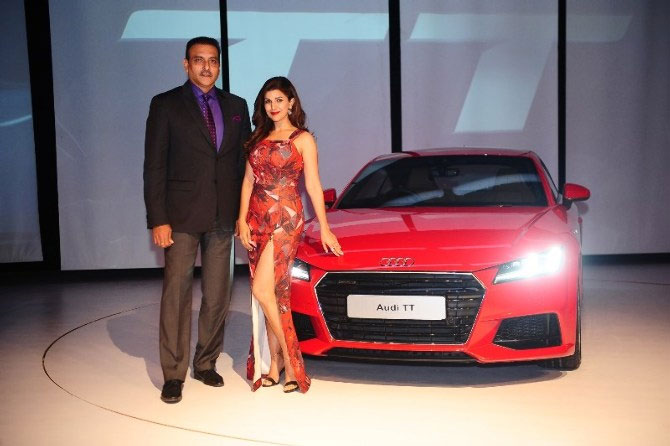Ravi Shastri and Nimrat Kaur were named brand ambassadors for a German car manufacturer a few years ago