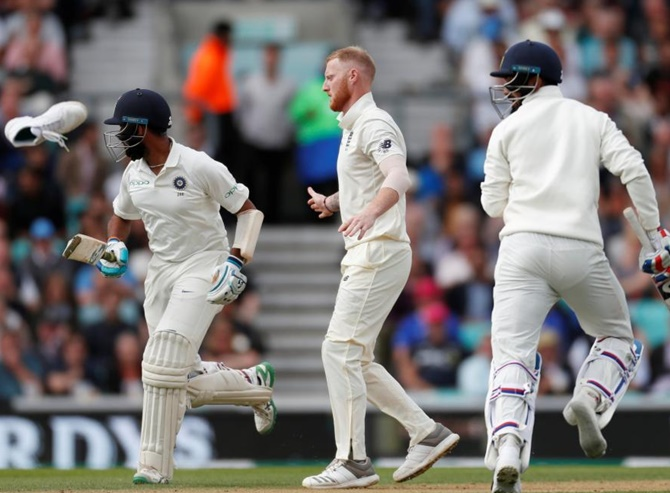 A scene from the fifth Test against England. Photograph: Paul Childs/Reuters