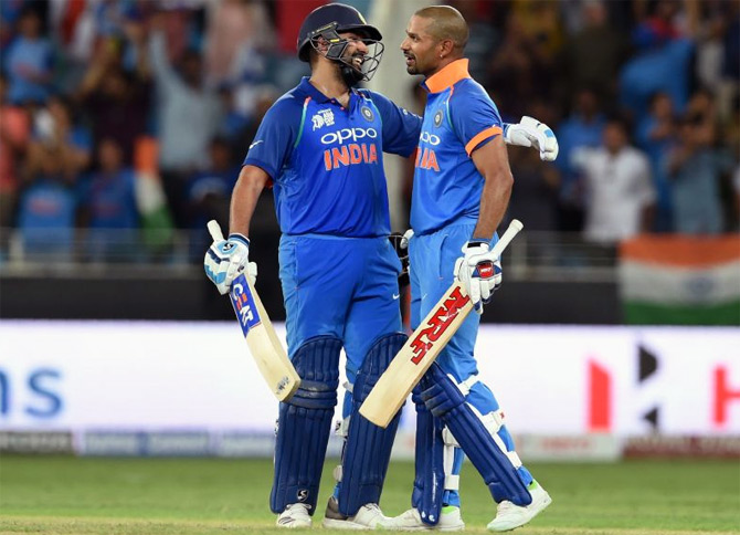 PHOTOS: Rohit, Dhawan hit tons as India crush Pakistan