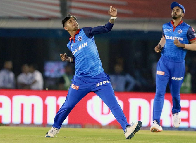 Delhi's Sandeep Lamichhane picked 2 for 27 in the match against Punjab