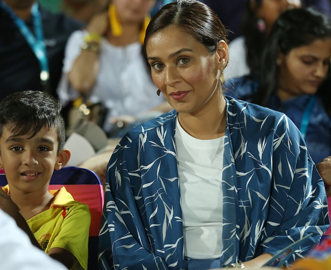 Sumayya Dildar with son Gibran