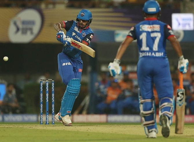 IPL PIX: Dhawan stars in Delhi Capitals win against KKR