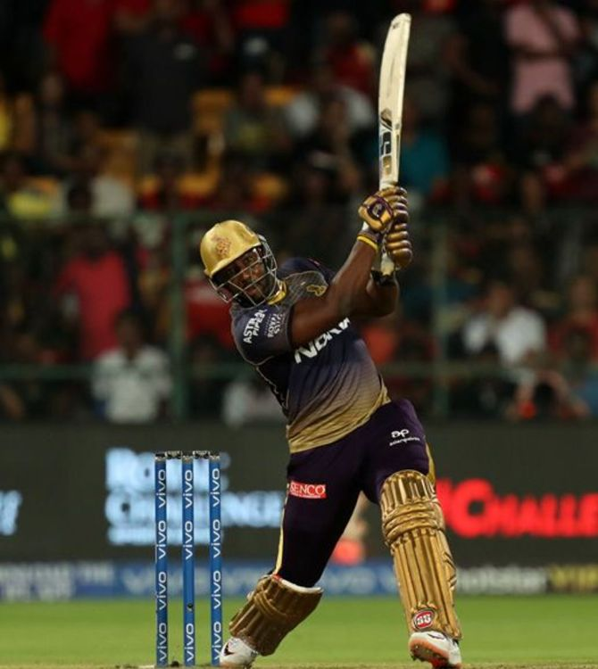 Andre Russell of Kolkata Knight Riders