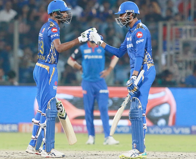 Hardik, left, and Krunal Pandya