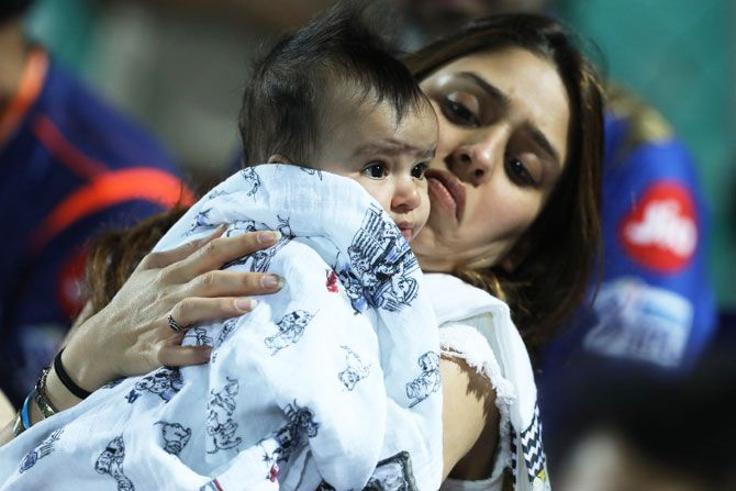 Rohit Sharma's baby with wife