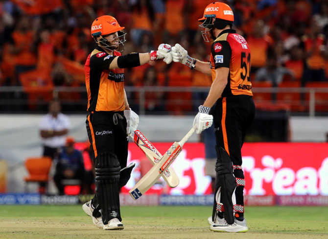 Sunrisers Hyderabad's David Warner and Jonny Bairstow are currently sitting at the first and second spots respectively in the leading run-scorers' list in the IPL