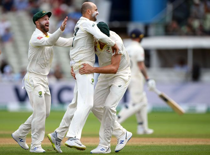 Nathan Lyon had figures of 6-49 in the 2nd innings of the 1st Ashes Test at Edgbaston in Birmingham on Monday