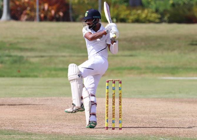 PHOTOS: Pujara hits ton in warm-up; Rahane fails