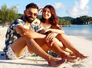 Kohli shares sun-kissed picture with wife Anushka