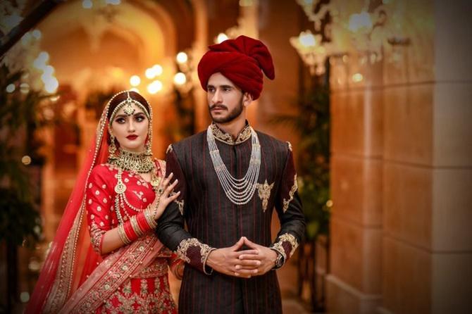 PIX: Pakistani cricketer Ali marries Indian girl Arzoo - Rediff ...