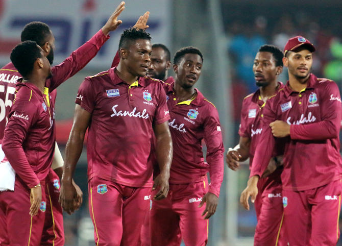Pacer Sheldon Cottrell has been among the wickets for the Windies