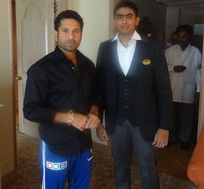 Hotel finds waiter Sachin Tendulkar was looking for
