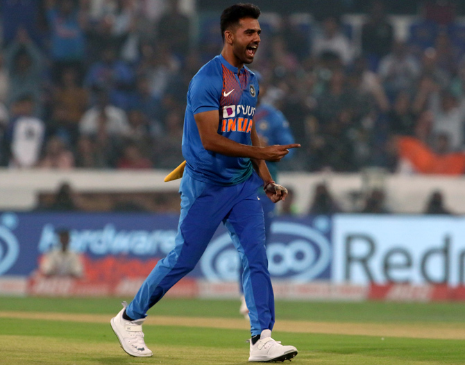 Chahar ruled out of final West Indies ODI