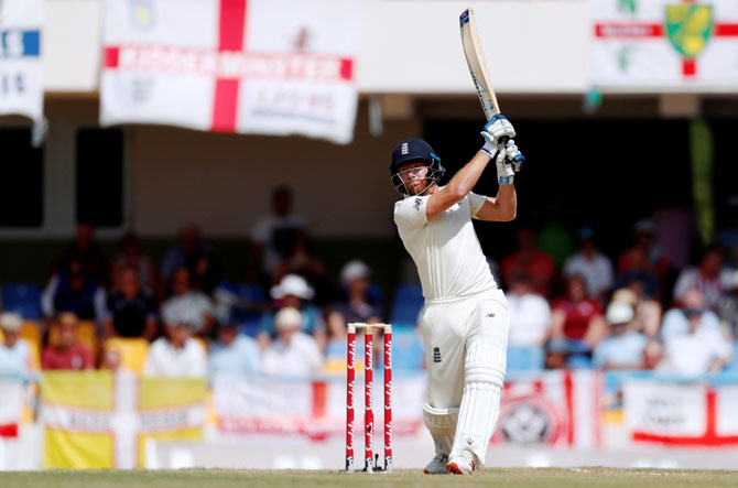 England's Jonny Bairstow bats during his innings of 52