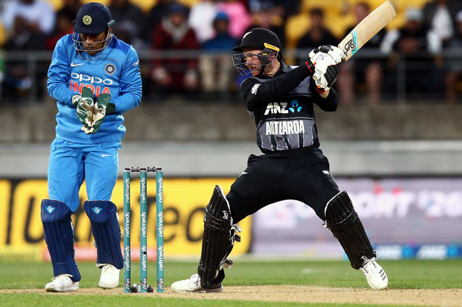 Opener Tim Seifert hit a quickfire half-century to power New Zealand to a huge 219/6 in the first T20 International