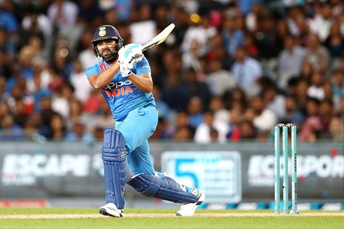 Rohit Sharma scored 50 off 29 balls in his innings on Friday