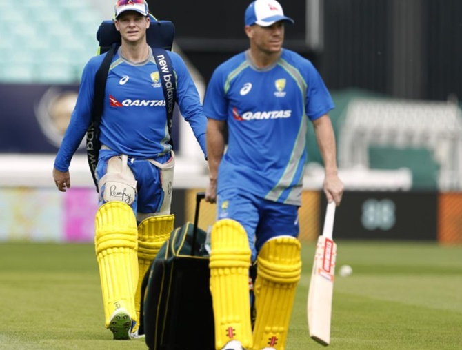 Steve Smith and David Warner will complete their one-year international bans on March 28