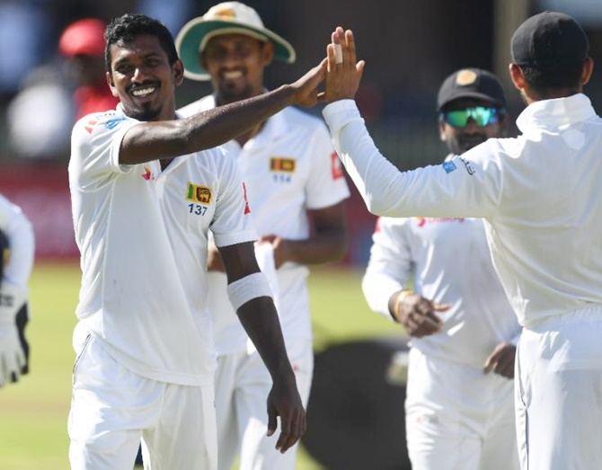 Rediff Sports - Cricket, Indian hockey, Tennis, Football, Chess, Golf - 2nd Test: Sri Lanka shine with the ball before South Africa fight back
