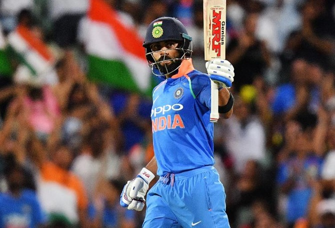 Rediff Cricket - Indian cricket - PIX: Captain Kohli leads from the front as India level series