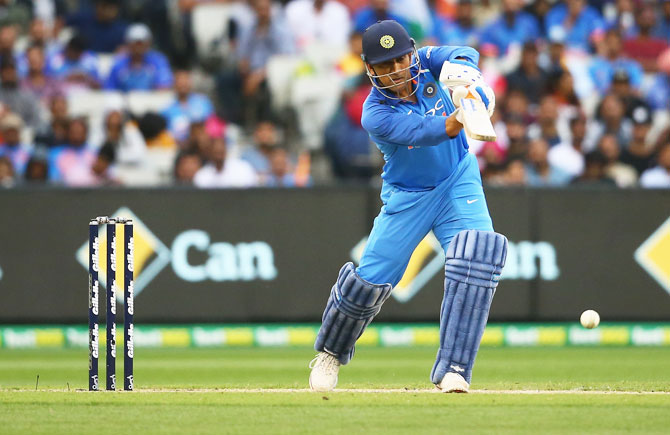 Batting at number four, Dhoni, who generally bats at number six, said he is 'happy to bat at any position, based on requirement of the team'