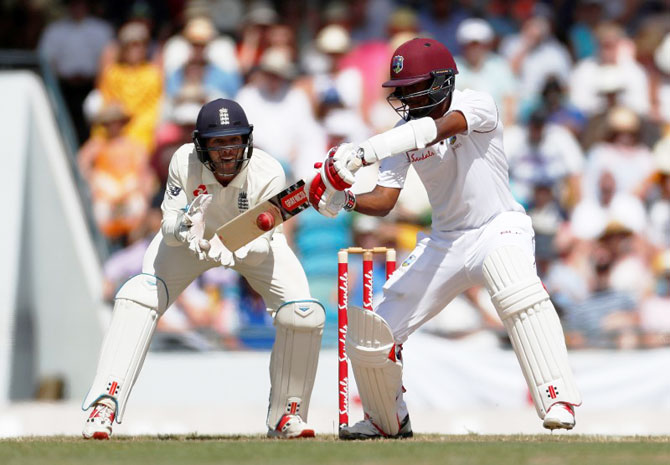 Rediff Cricket - Indian cricket - 1st Test: Anderson strikes late as England peg back Windies