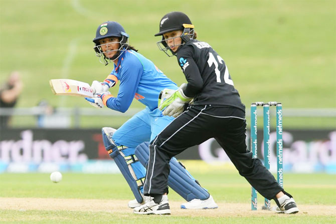 Rediff Cricket - Indian cricket - PIX: Mandhana, Rodrigues score big as India canter to win against NZ