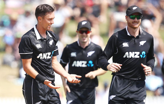 Bowling his 10 overs at a stretch, Boult claimed 5-21 in swing-friendly conditions after captain Kane Williamson won the toss and opted to field at Hamilton's Seddon Park